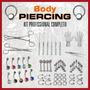 Kit Body Piercing Profissional Equipamentos E Joias C/ Video