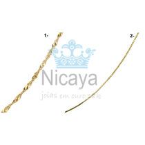 Nicaya Cordão Fio Em Ouro 18k-750 Maciço