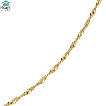 Nicaya Corrente Singapura 50cm Em Ouro 18k-750 Maciça
