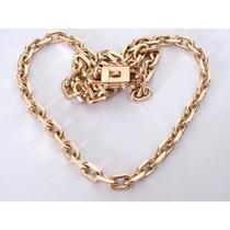 Corrente Modelo Cartier Maciça De Ouro 18 K