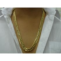 Cordão Grumet Duplo Folheado Ouro 18k 70cmx1,5cm Ostentação