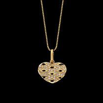 Gargantilha Em Ouro 18k (750). Com Pingente De Coração Co