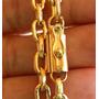 5 Cordões Banhados A Ouro - 65cm E 6mm - Fecho De Gaveta