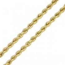 Monreale Corrente Cordão Colar Em Ouro 18k Maciço Mod Corda
