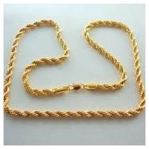 Corrente Colar Cordão Em Aço Inox Dourado Ou Prateado