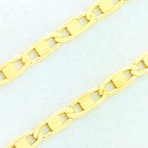Cordão Masculino Ouro 18k Cordão Piastrine 60cm Ft Gratis