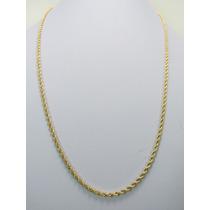 Cordão Corrente Baiano 60cm Em Ouro 18k- Frete Grátis