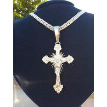 Pingente Para Corrente Cordão De Prata Crucifixo Gg 950k.