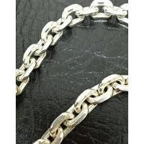 Cordão Cadeado Em Prata 950, Maciço