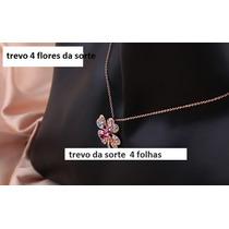 Corrente Cordão Ouro 18k - Trevo 4 Flores Da Sorte-promoçao