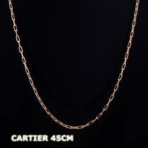 Cartier - Corrente Em Ouro 18k - 750 - 1,20gr - 45cm