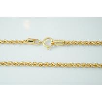Swjoias Cordão Baiano Feminino Corda 45cm Ouro18k 3g