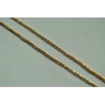 Frete Grátis! Cordão Feminino Corda 45cm Em Ouro 18k