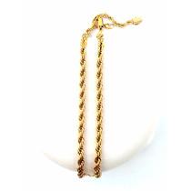 Cordão Masculino Aço Inoxidável Cor Ouro 18k 73 Cm Gigante