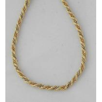 Cordao Trancado Em Ouro Amarelo, Branco E Rosê 18k-750