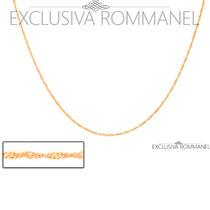 Rommanel Corrente Gargantilha Cordão Folh Ouro 18k 531097