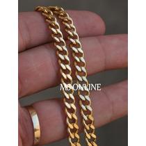 Corrente Cordão Masculino Grumet 5mm Folheado A Ouro 18k