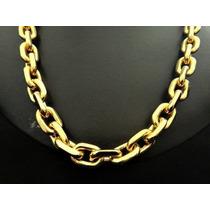 Corrente 70cm Cartier Grossa Banhada Ouro - Frete Grátis