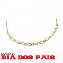 Corrente Folheada A Ouro 18k 1x1 60cm Presente Caixa De Luxo