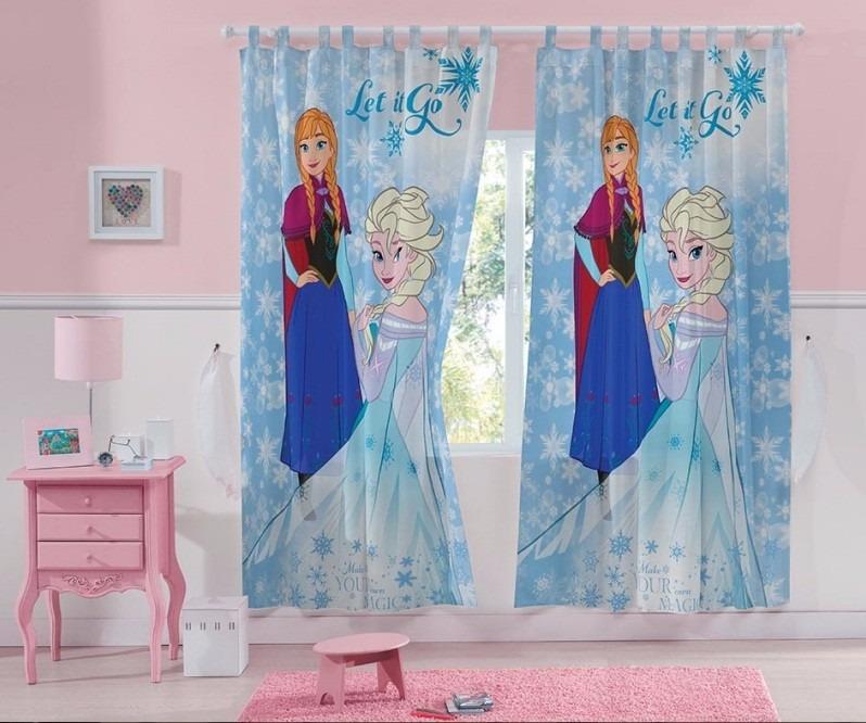 Cortina infantil para var o frozen ana e elza 3 00m x 2 - Pegatinas para cortinas ...