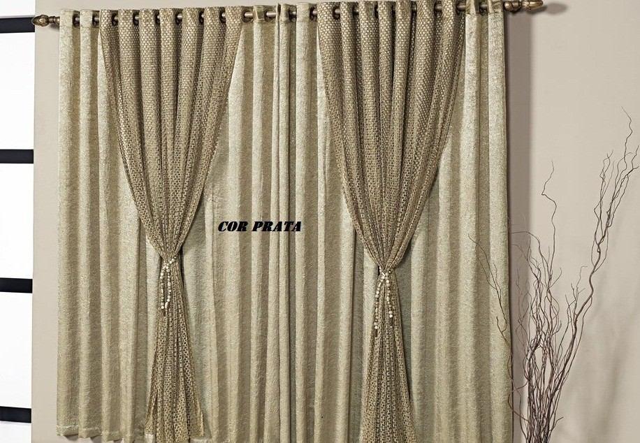 Cortina sala e quarto 3 metros modelo nix maravilhosa for Modelos de cortinas para sala 2016