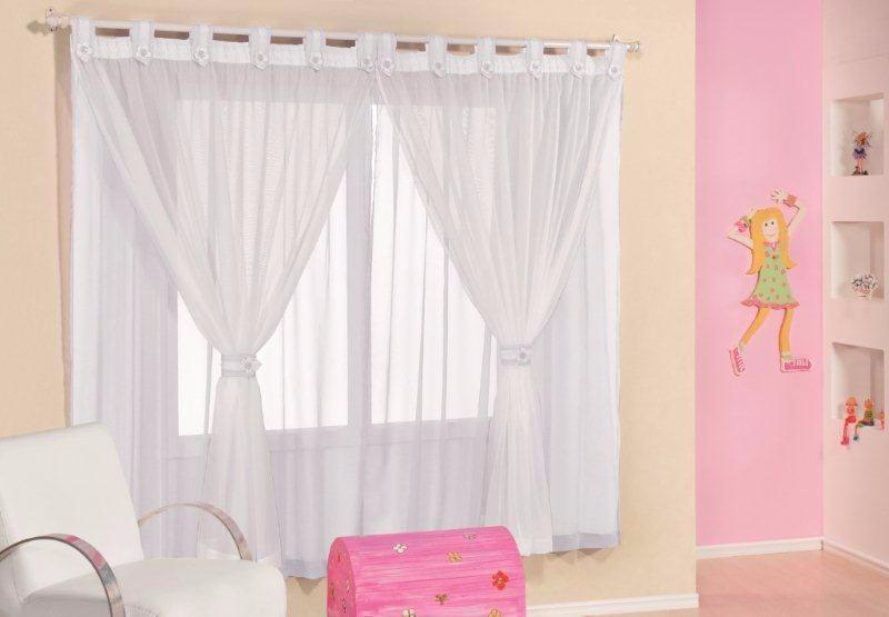 Cortina tecido voil juvenil 3 00m x 2 50m para var o - Cortinas para dormitorio juvenil ...
