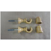 Suporte Cerejeira Varão Simples 19mm 2 Unid Com Ponteiras