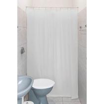 Cortina Para Banheiro Em Pvc - Lisa Branca