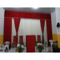 Cortinas Para Igrejas Pr/varão Duplo,6,00 Largura 4,00 Altur
