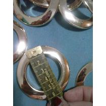 Ilhós,argola De Plastico,p/cortina Cor Dourado 6cm 40 Pares