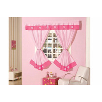Cortina Rosa/pink Gorgurinho P/ Trilho 2,00 X 1,70 Julia