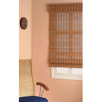 Cortina Persiana Roman Shade Hawaii Bambu 120 X 220 Cm Café