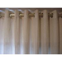 Cortina Tecido Rustico - Tecido Pesado Lindo - Com Ilhóses