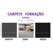 Carpete Forração Inylbra Preto Cinza Grafite Casa Escritório