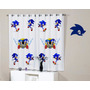 Cortina Quarto Sonic Jogo Sega Pronta Entrega Geek