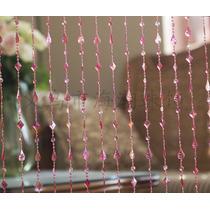 Cortina De Miçanga Acrilica Pingo Vermelha