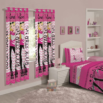 Cortina Infantil Decorativa Disney Barbie Rock - Santista