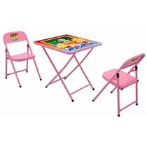 Conjunto Infantil Mesa Cadeira Sapeca Rosa E Azul