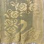 Cortina Em Croche, 02 Peças...2.60 X 1.38...amarelo Ouro