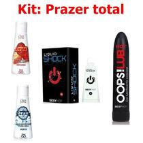 Kit Sexo Oral Aquece Esfria Vibrador Líquido (frete Grátis)