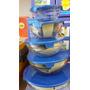 Conjunto De Potes De Vidro Tampa Plastica 5pçs