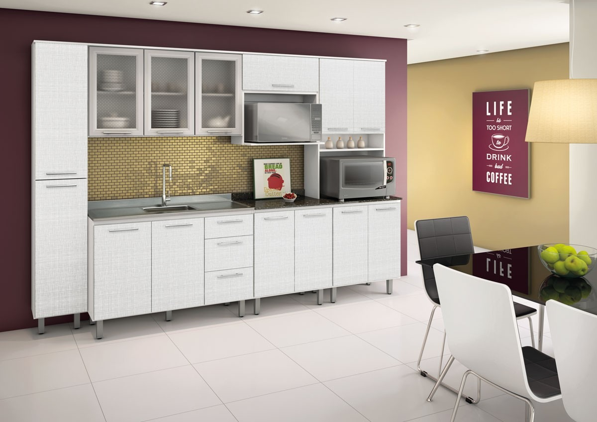 Cozinha Audácia Em Mdf Nicioli Balcão Armário Paneleiro R$ 1.367  #A4AA21 1200 848