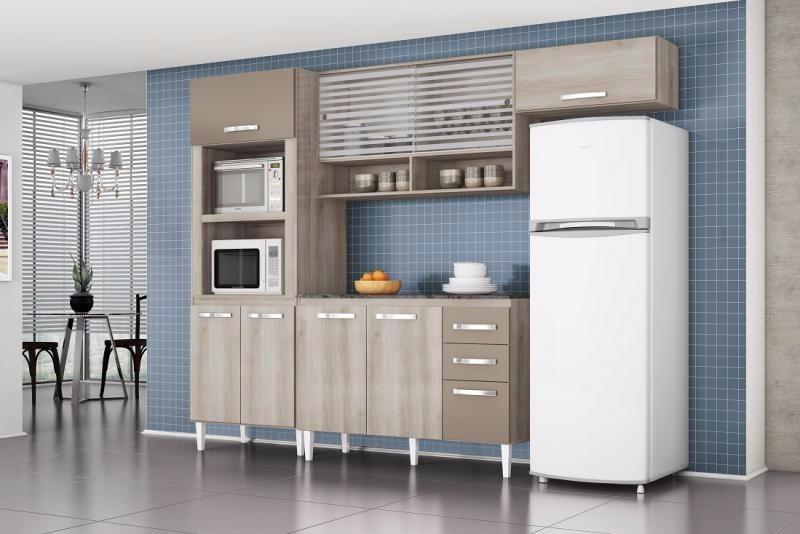 Cozinha Compacta Talita 3 Peças  Aramóveis  R$ 579,89 no MercadoLivre # Cozinha Compacta Talita Aramoveis