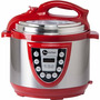 Panela Eletrônica De Pressão 5l Fun Kitchen Vermelha