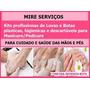 Kits Luvas + Botas Descartáveis Manicure/pedicure Promoção