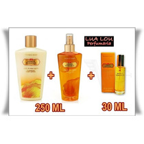 Kit Amber Romance Body + Creme + Perfume Vic Secret 250 Ml