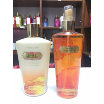Kit Body Lotion Creme + Splash Amber Romance 250ml