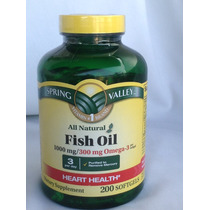 Fish Oil 1000mg / 300mg Ômega-3 Spring Valley - 200 Softgels