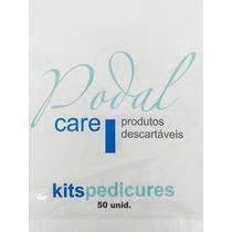 Kit 100 Pedicure + 50 Manicure Pares Descartável Luvas Botas