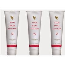 Kit (03) Aloe Heat Lotion - Creme Para Massagem Dor Forever